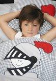 junior dekbedovertrek ridder Misha grijs - zaza for kids