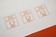 wieglaken stippen oranje - zaza for kids