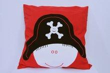 kussenhoes broertje piraat rood - zaza for kids