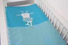 dekbedovertrek ledikant giraf turquoise - zaza for kids